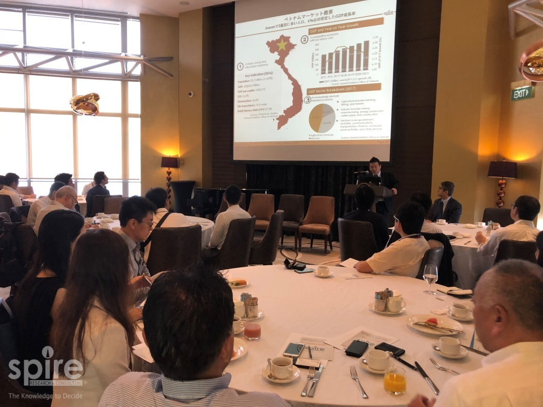 A breakfast seminar on partnering Vietnamese firms jointly held by Spire and YCG