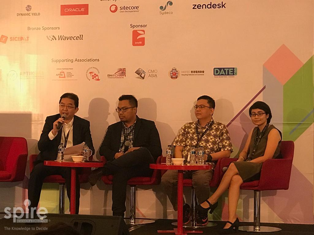 Spire hosts a session on Indonesia's online grocery sector at Internet Retailing EXPO Indonesia 2018