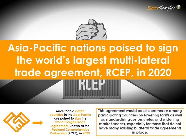 Asia-Pacific nations poised to sign the world's largest multi-lateral trade agreement, RCEP, in 2020