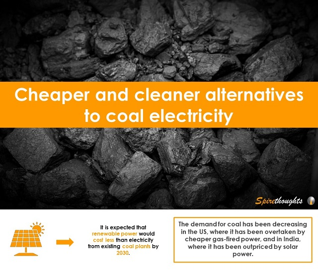 Cheaper and cleaner alternatives to coal electricity