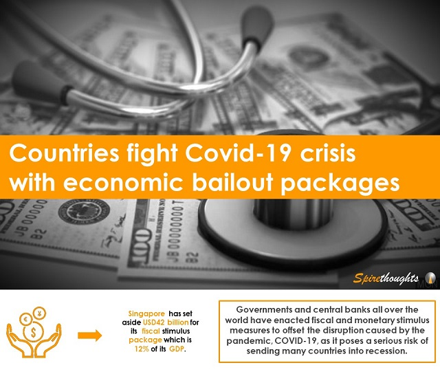 Countries fight Covid-19 crisis with economic bailout packages